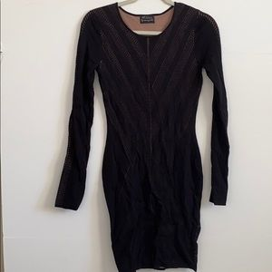 Torn by Ronny Kobo Black Dress from Intermix